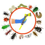 Pest control concept royalty free illustration