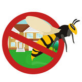 Pest control concept with insects exterminator silhouette flat vector illustration. Set Stock Photography
