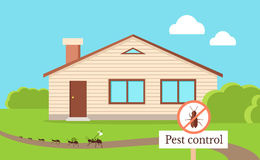 Pest Control Concept Vector In Flat Style Design Royalty Free Stock Photo