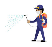 Pest Control Concept Vector In Flat Style Design Stock Image