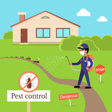 Pest Control Concept Vector In Flat Style Design Royalty Free Stock Image