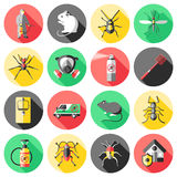 Pest Control Flat Icons Set Royalty Free Stock Photography