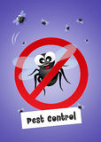 Pest control. Funny illustration of pest control Royalty Free Stock Images