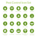 Pest Control Icon set. Vector icon set with insects like flies, cockroaches, bed bugs, spiders and termites for pest control companies royalty free illustration