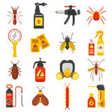 Pest Control Icons Set Royalty Free Stock Image