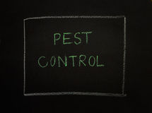 PEST CONTROL message on black background. Royalty Free Stock Photography