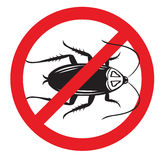 Pest Control No More or Kill Cockroaches sign Stock Photography