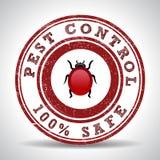 Pest control 100% safe grunge rubber stamp. On white, vector illustration stock illustration