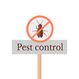 Pest Control Sign Stock Photography