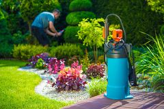 Pest Control Spraying Royalty Free Stock Photos