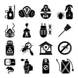 Pest control tools icons set, simple style Stock Photo