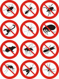 Pest control - warning sign Royalty Free Stock Photos