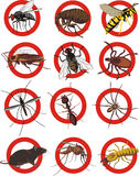 Pest control - warning sign royalty free stock photo