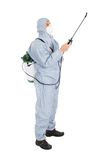 Pest control worker in protective workwear Royalty Free Stock Image