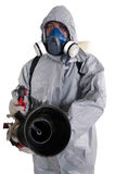 A pest control worker  Royalty Free Stock Images