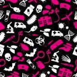 Pest und einfaches nahtloses Muster eps10 des Krankheitsthemas Lizenzfreies Stockbild