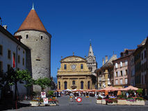 Pestalozzi Place, Yverdon-les-Bains, Switzerland Royalty Free Stock Image