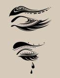 Pestanas abstratas da beleza ilustração do vetor