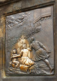 Peste en bronze Charles Bridge Prague Landmark Photographie stock libre de droits