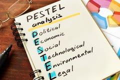 Pestel analysis Stock Photo