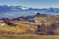 Pestera村庄,罗马尼亚 免版税库存图片