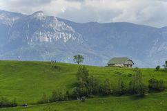 Pestera village. In brasov county, romania Royalty Free Stock Photography