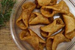Pestiños: εποχιακά ισπανικά τρόφιμα στοκ φωτογραφίες