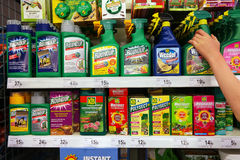 Pesticide application in a Supermarket Royalty Free Stock Photos