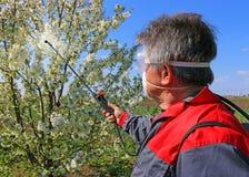 Pesticide de pulvérisation photos stock