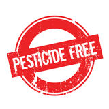 Pesticide Free rubber stamp. Grunge design with dust scratches. Effects can be easily removed for a clean, crisp look. Color is easily changed Royalty Free Stock Images