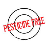 Pesticide Free rubber stamp. Grunge design with dust scratches. Effects can be easily removed for a clean, crisp look. Color is easily changed Stock Images