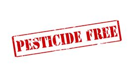 Pesticide free. Rubber stamp with text pesticide free inside,  illustration Royalty Free Stock Photos