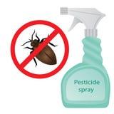 Pesticide. Pest control. Pesticide spray vector illustration Stock Photo