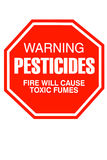 Pesticide Sign Royalty Free Stock Photos