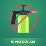 Pesticide spray in prohibition sign vector illustration Royalty Free Stock Photos