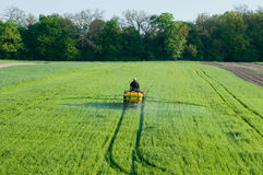 Pesticide sprayer in the field Stock Photography