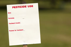 Pesticide Use. Sign with space for text Royalty Free Stock Photos
