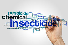 Pesticide word cloud. Concept on grey background Stock Photography