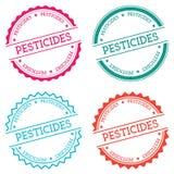 Pesticides badge isolated on white background. Stock Photo
