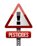 Pesticides warning sign illustration design Royalty Free Stock Images