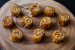 Pestil/Cevizli Sucuk/пульпа плодоовощ грецкого ореха Стоковые Изображения RF
