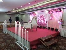 wedding backdrop,artificial candles royalty free stock photos
