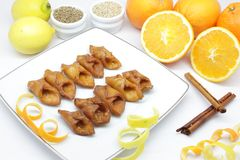 Pestino ( typical Andalusian dessert ) Stock Photography