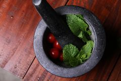 Pestle and Mortar Royalty Free Stock Images