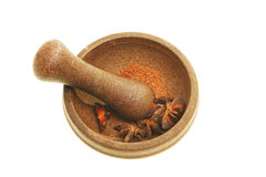 Pestle and mortar with spice Royalty Free Stock Photo
