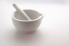 Pestle & Mortar on white Stock Photo