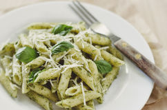 Pesto意大利面食 图库摄影