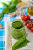 Pesto σπανακιού στοκ φωτογραφία