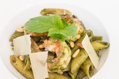 Pesto макаронных изделий Penne Стоковое Изображение RF