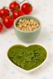 Pesto alla Genovese. Pesto alla Genovese , Basil Sauce.Macro Royalty Free Stock Images